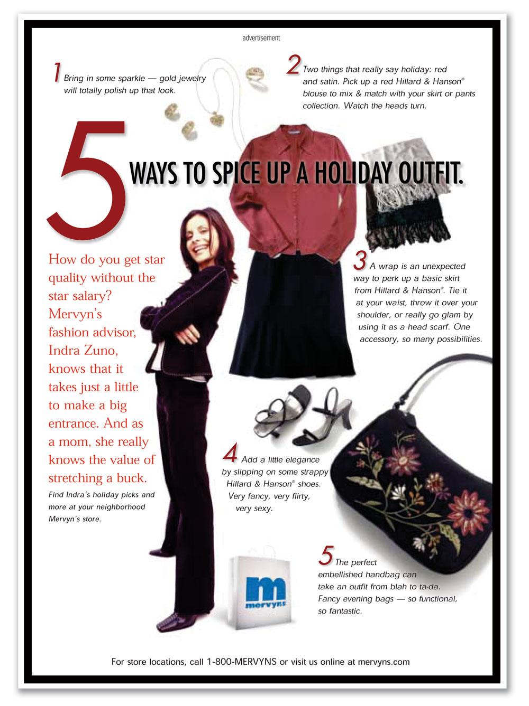 Mervyn's Glamour en Español Ad